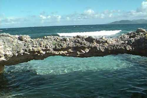 Where is the Natural Stone Brdige in Anguilla?